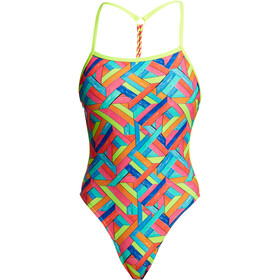 Funkita Twisted One Piece Badpak Dames, panel pop